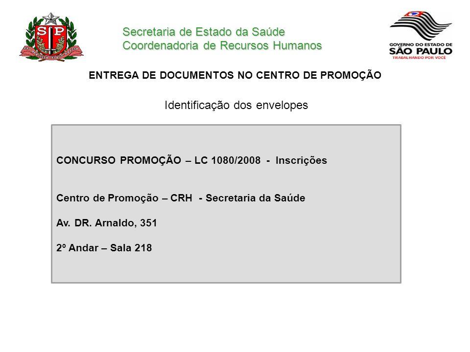 ENTREGA DE DOCUMENTOS NO CENTRO DE PROMOÇÃO