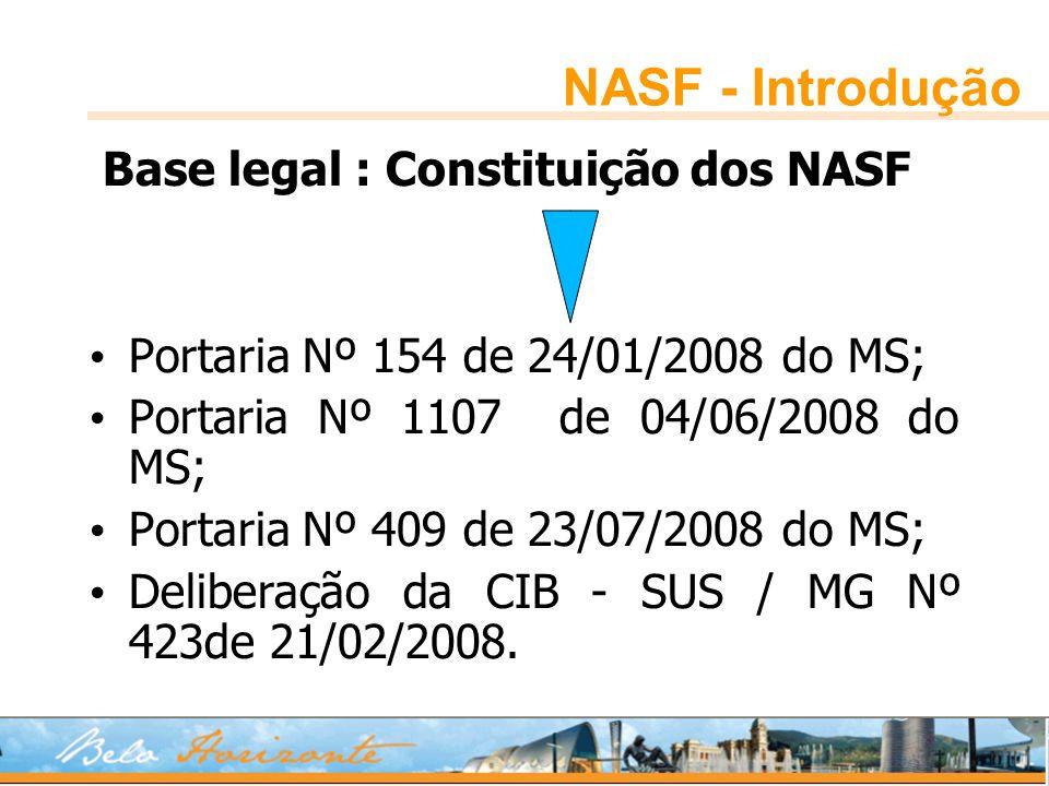 NASF - Introdução Base legal : Constituição dos NASF