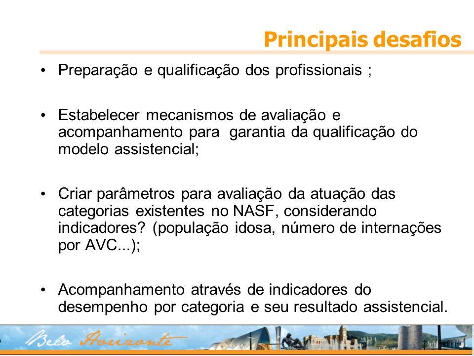 Principais desafios Preparação e qualificação dos profissionais ;