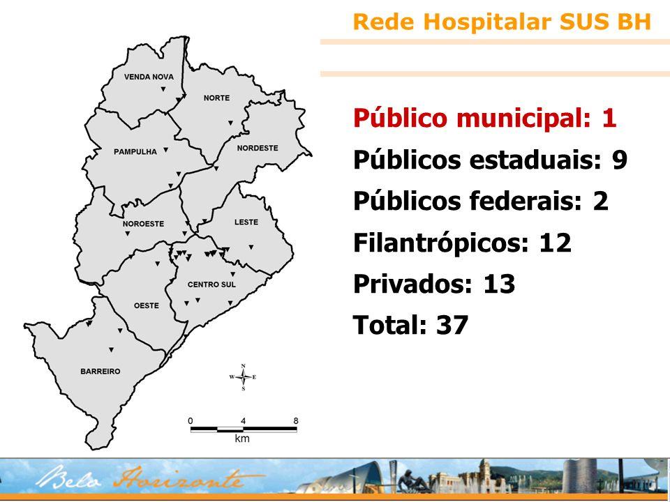 Público municipal: 1 Públicos estaduais: 9 Públicos federais: 2