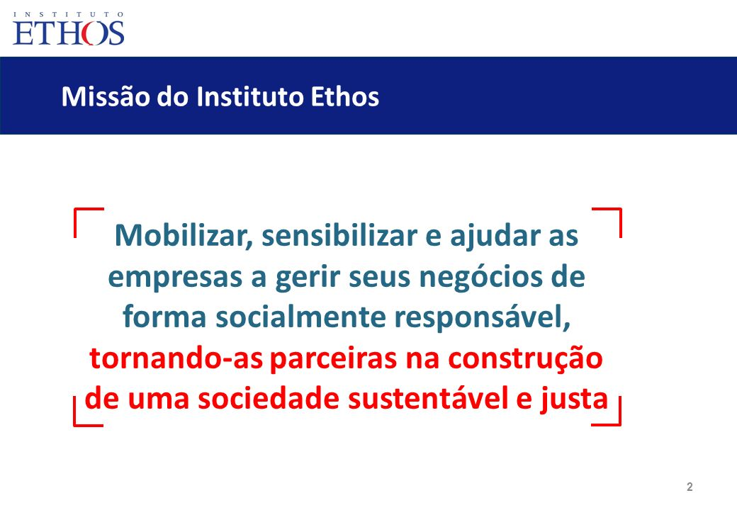 Missão do Instituto Ethos