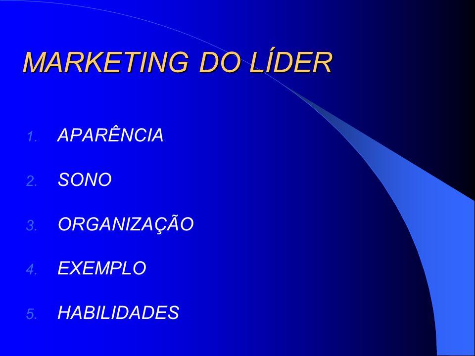 MARKETING DO LÍDER APARÊNCIA SONO ORGANIZAÇÃO EXEMPLO HABILIDADES