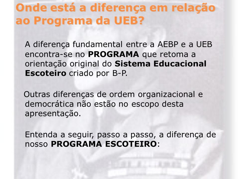 Onde está a diferença em relação ao Programa da UEB