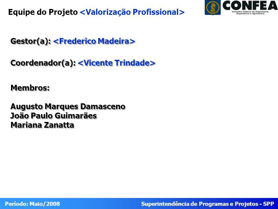 Equipe do Projeto <Valorização Profissional>