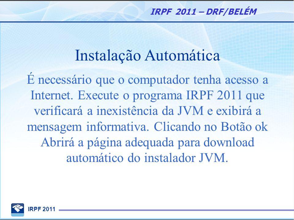 Instalação Automática