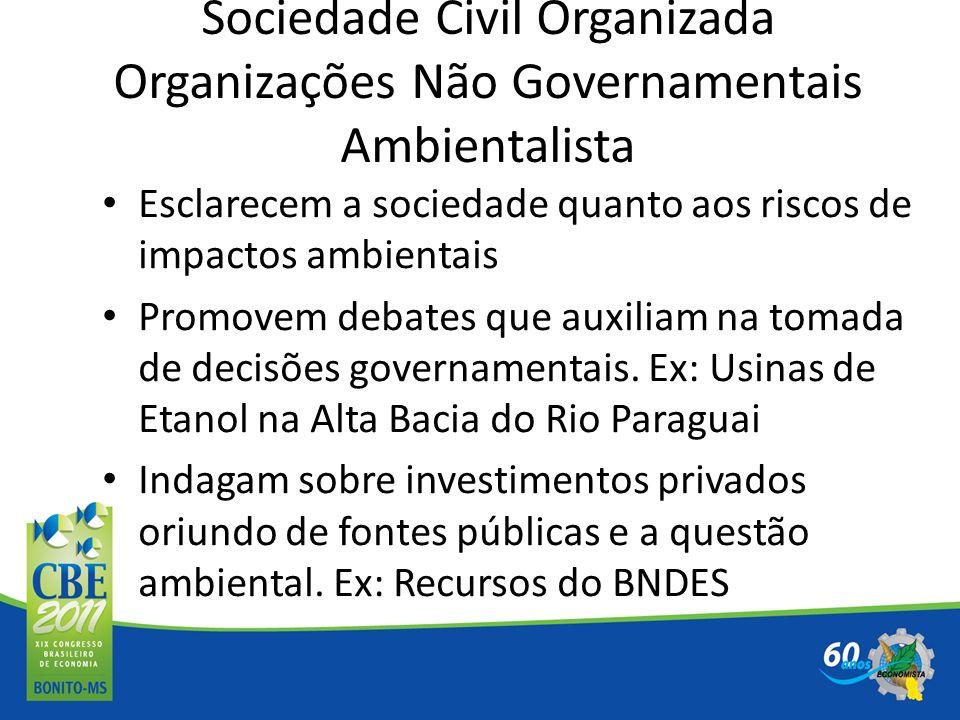Sociedade Civil Organizada Organizações Não Governamentais Ambientalista