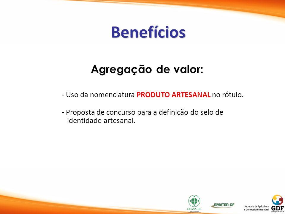 Benefícios Agregação de valor: