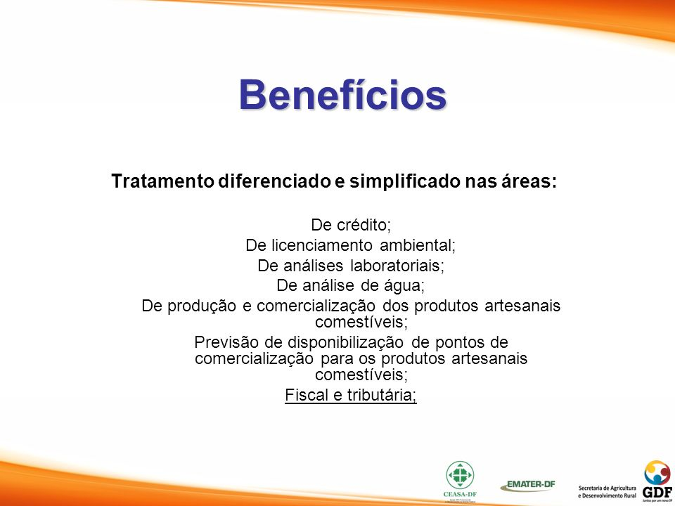 Tratamento diferenciado e simplificado nas áreas: