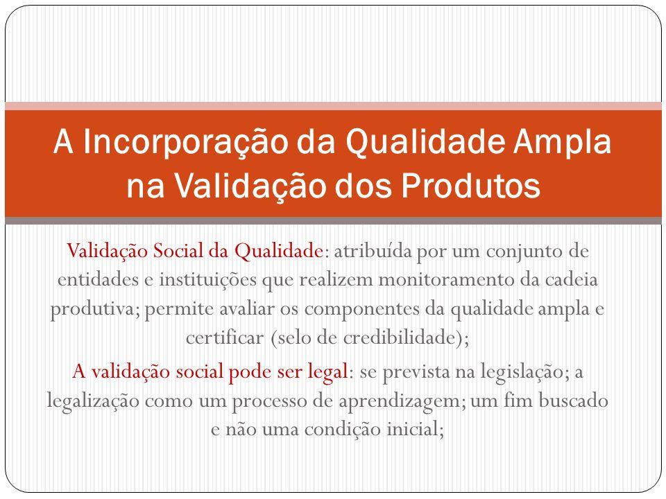 A Incorporação da Qualidade Ampla na Validação dos Produtos