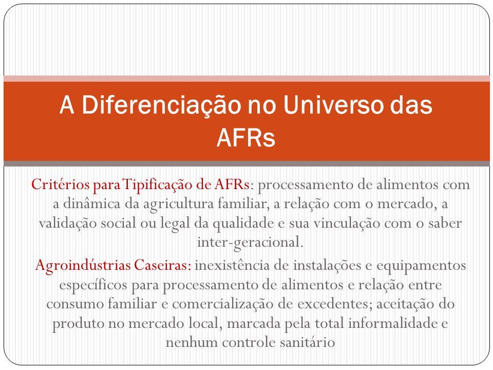A Diferenciação no Universo das AFRs
