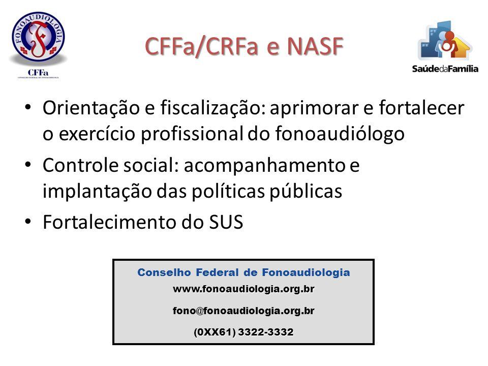 Conselho Federal de Fonoaudiologia www.fonoaudiologia.org.br