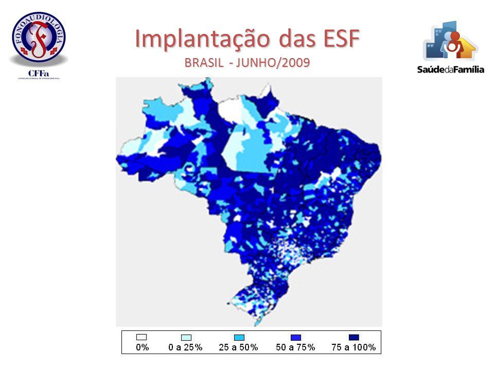 Implantação das ESF BRASIL - JUNHO/2009