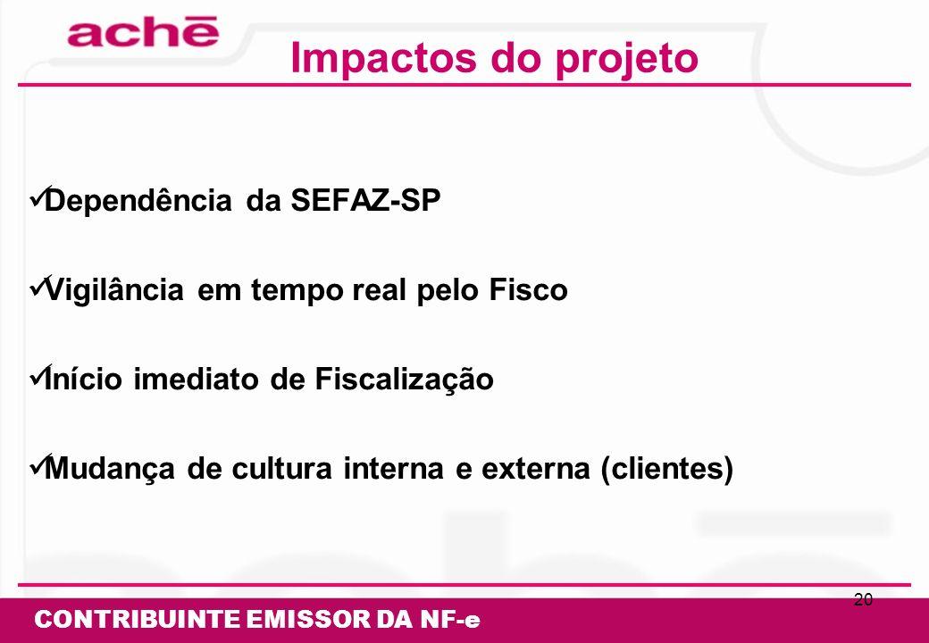 Impactos do projeto Dependência da SEFAZ-SP