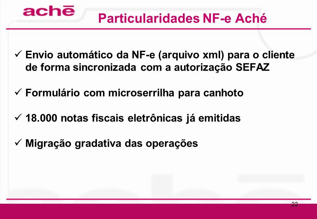 Particularidades NF-e Aché