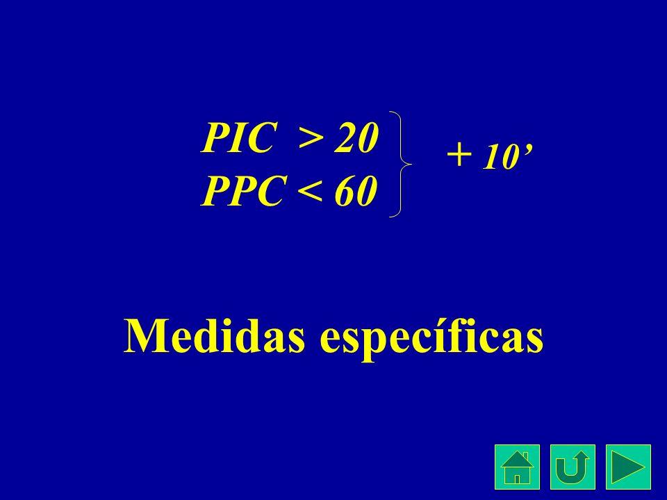 PIC > 20 PPC < 60 + 10' Medidas específicas