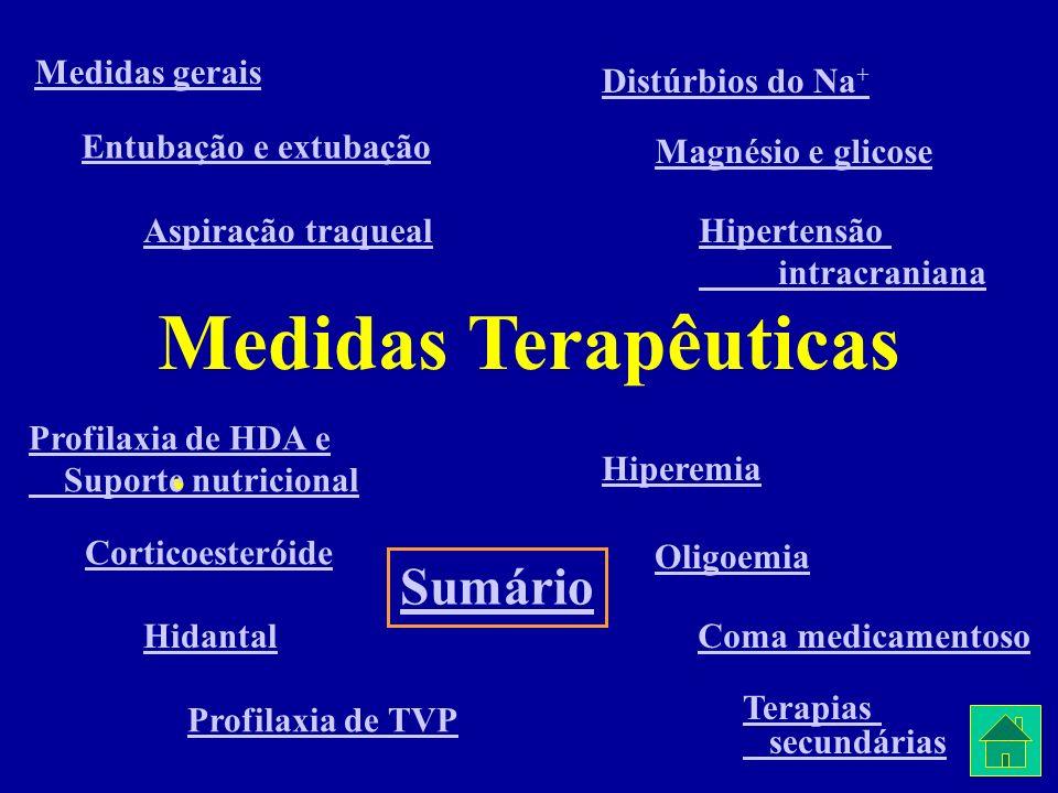 Medidas Terapêuticas Sumário Medidas gerais Distúrbios do Na+