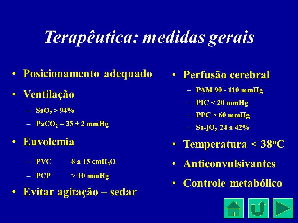 Terapêutica: medidas gerais