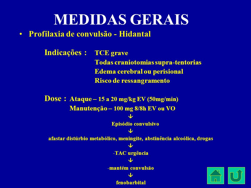 afastar distúrbio metabólico, meningite, abstinência alcoólica, drogas