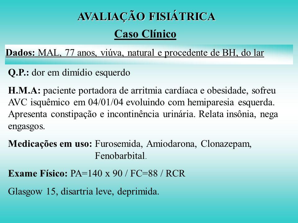 AVALIAÇÃO FISIÁTRICA Caso Clínico