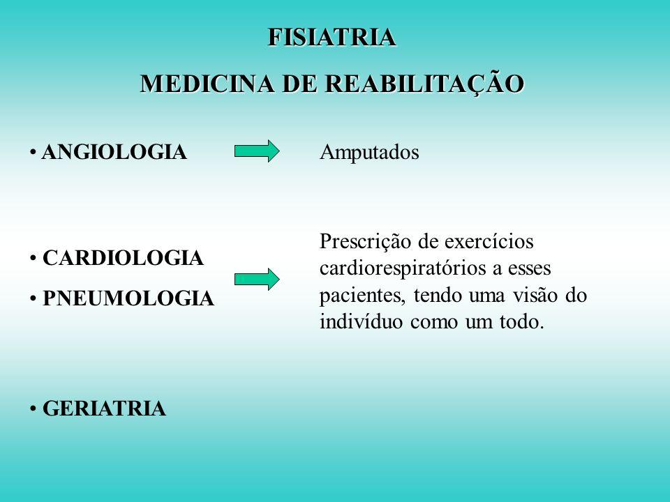 MEDICINA DE REABILITAÇÃO