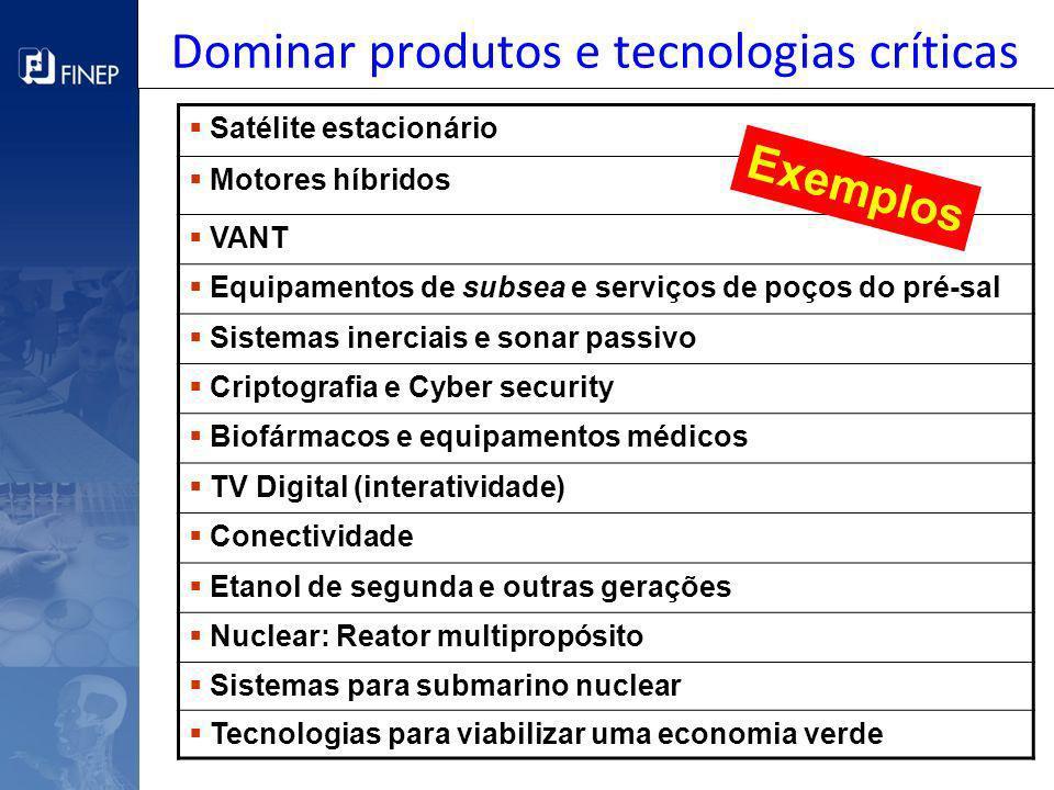 Dominar produtos e tecnologias críticas