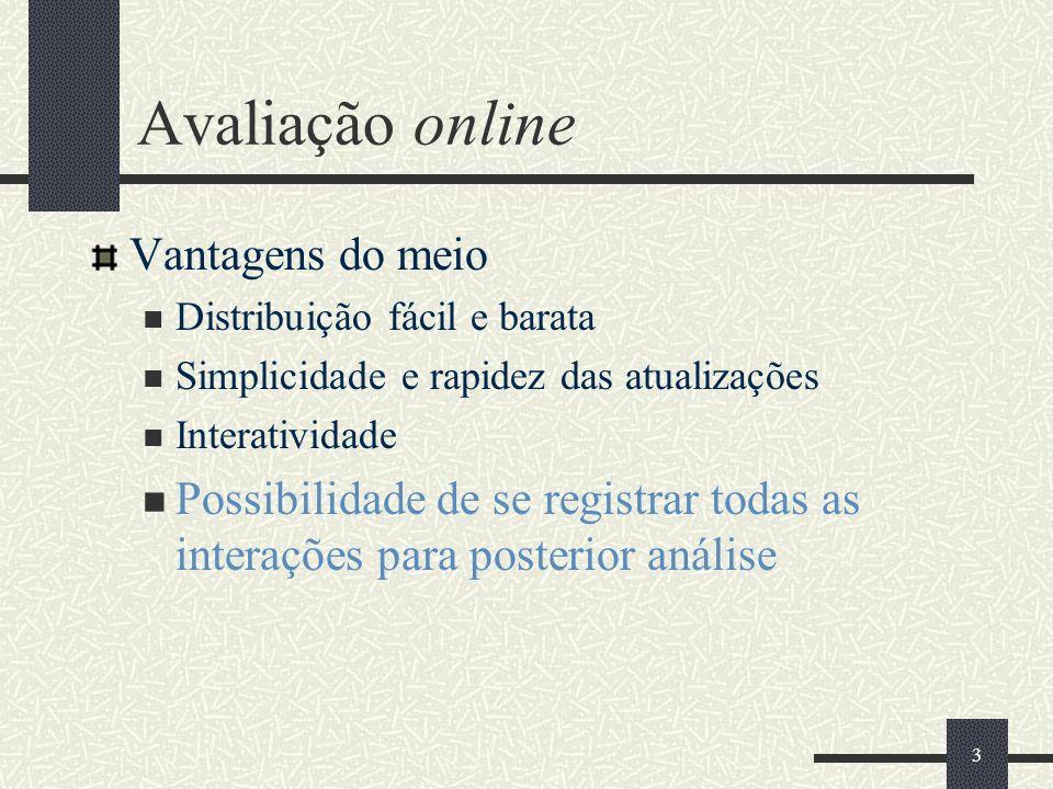 Avaliação online Vantagens do meio