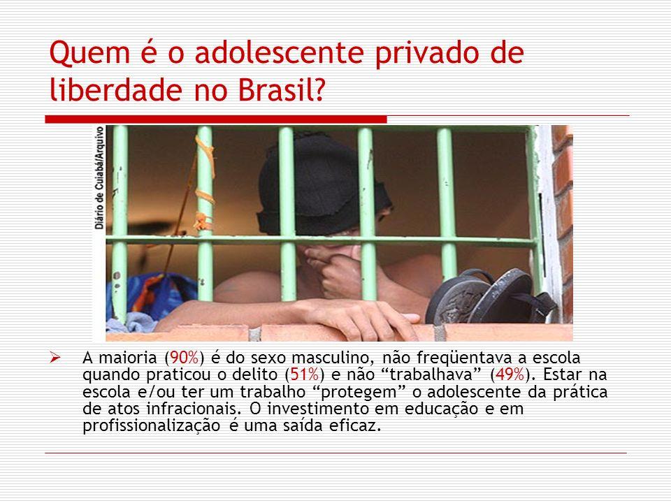 Quem é o adolescente privado de liberdade no Brasil