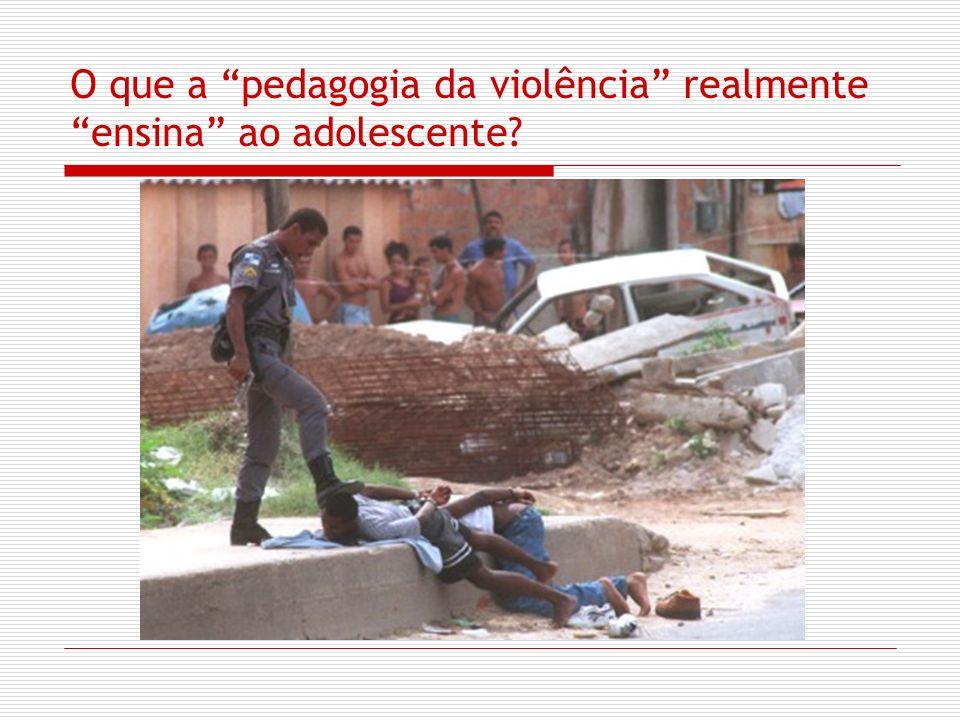 O que a pedagogia da violência realmente ensina ao adolescente