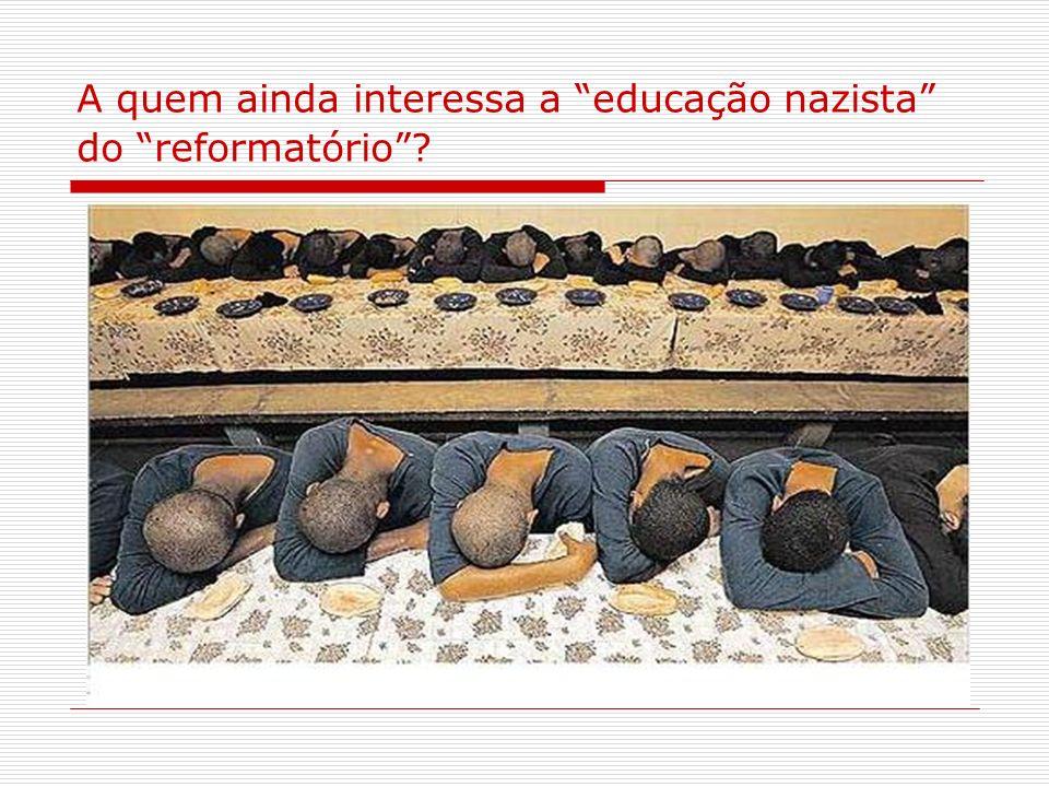 A quem ainda interessa a educação nazista do reformatório