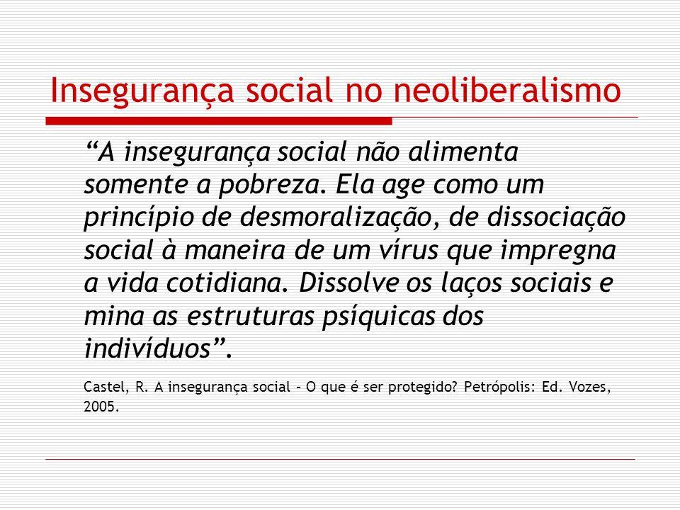 Insegurança social no neoliberalismo