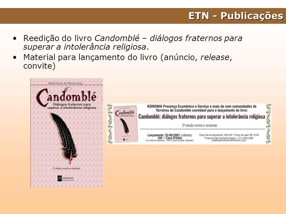 ETN - Publicações Reedição do livro Candomblé – diálogos fraternos para superar a intolerância religiosa.