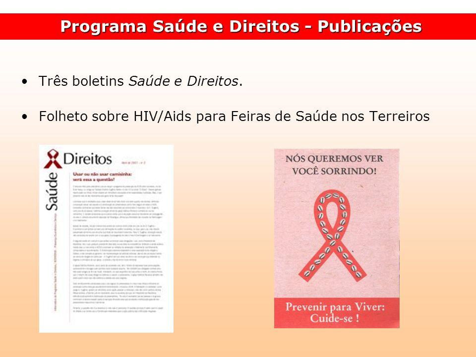 Programa Saúde e Direitos - Publicações