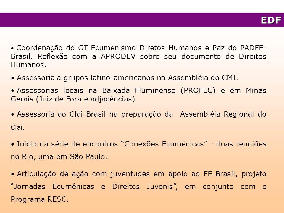 EDF Assessoria a grupos latino-americanos na Assembléia do CMI.
