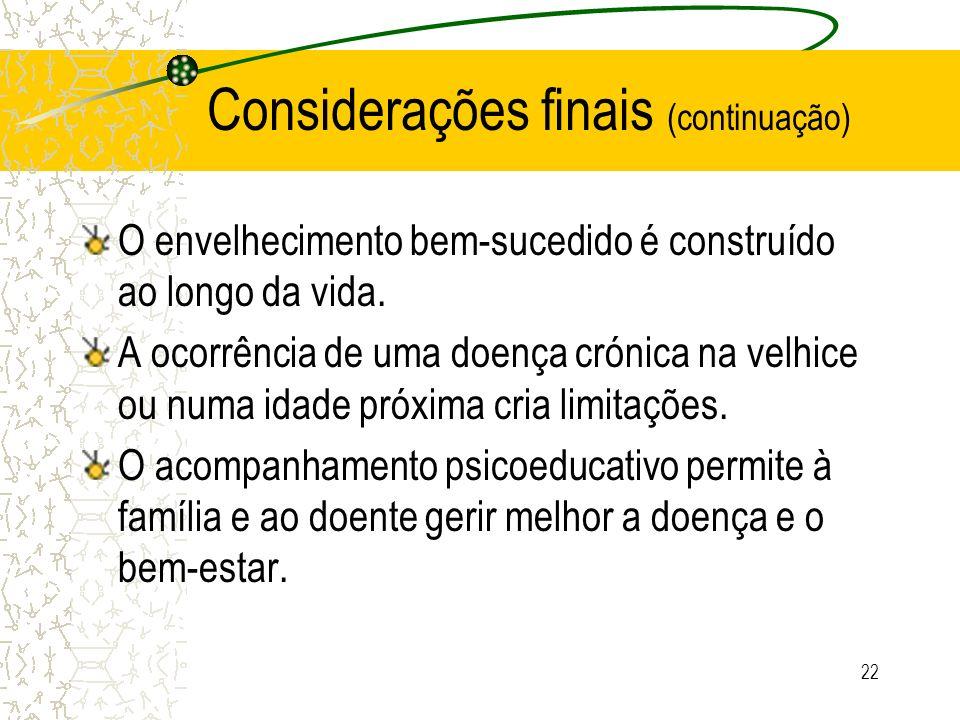 Considerações finais (continuação)