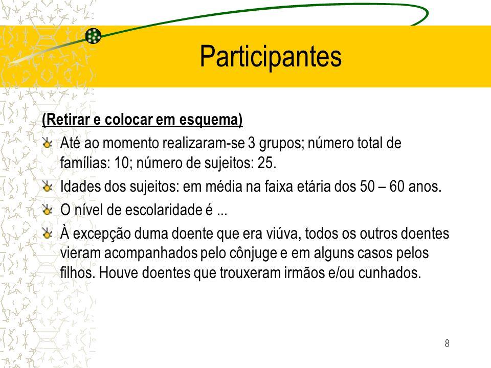 Participantes (Retirar e colocar em esquema)