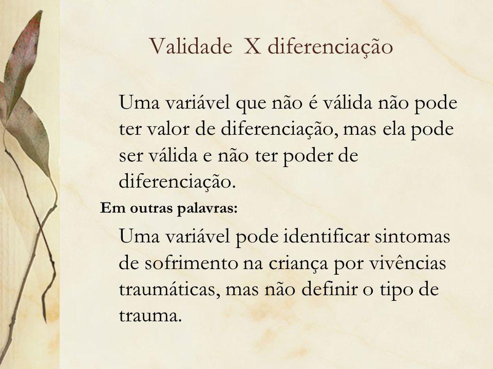Validade X diferenciação