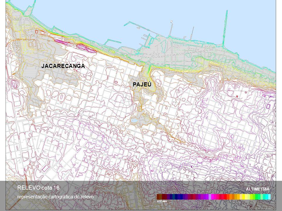 JACARECANGA PAJEÚ RELEVO cota 16 representação cartográfica do relevo
