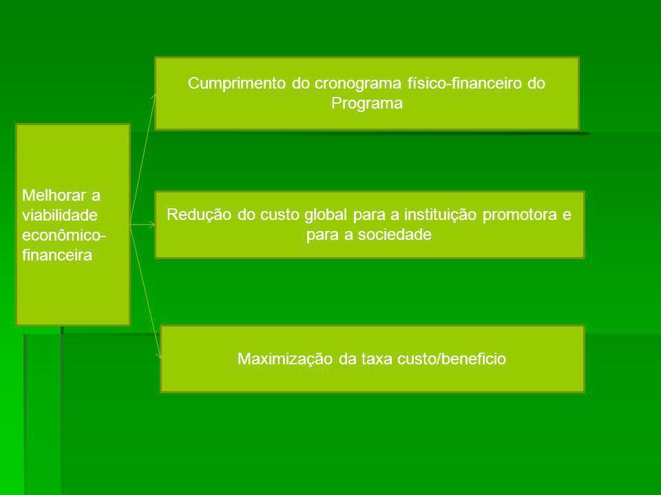 Cumprimento do cronograma físico-financeiro do Programa
