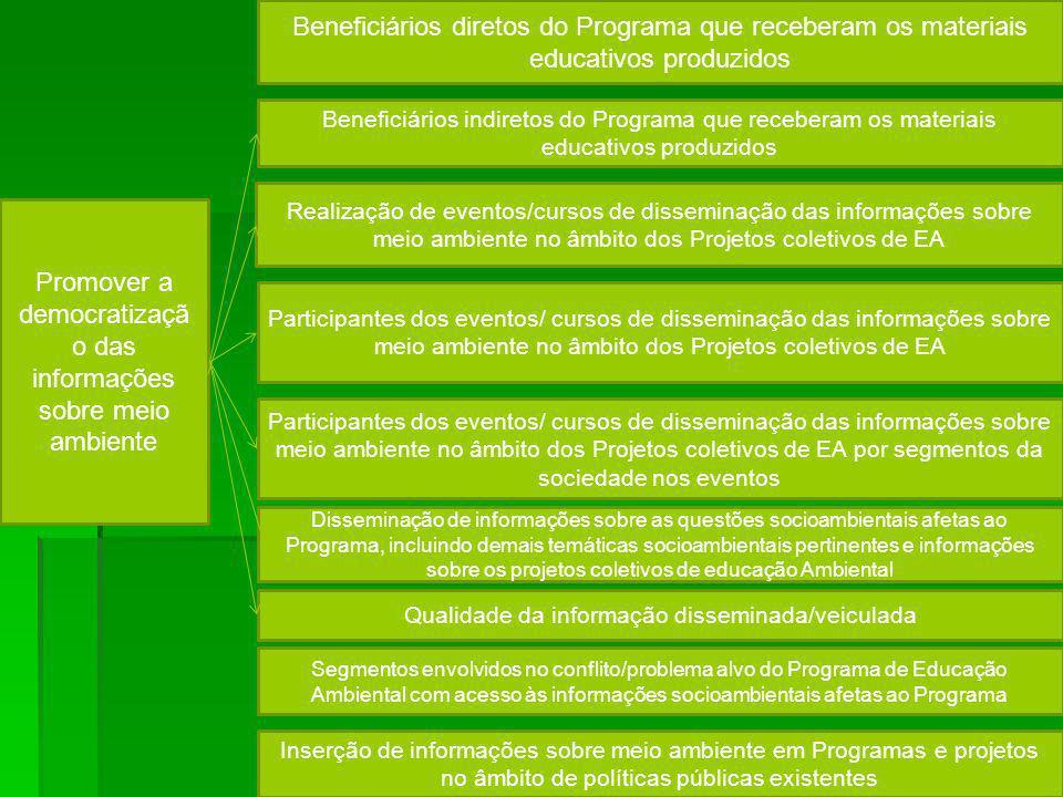 Promover a democratização das informações sobre meio ambiente