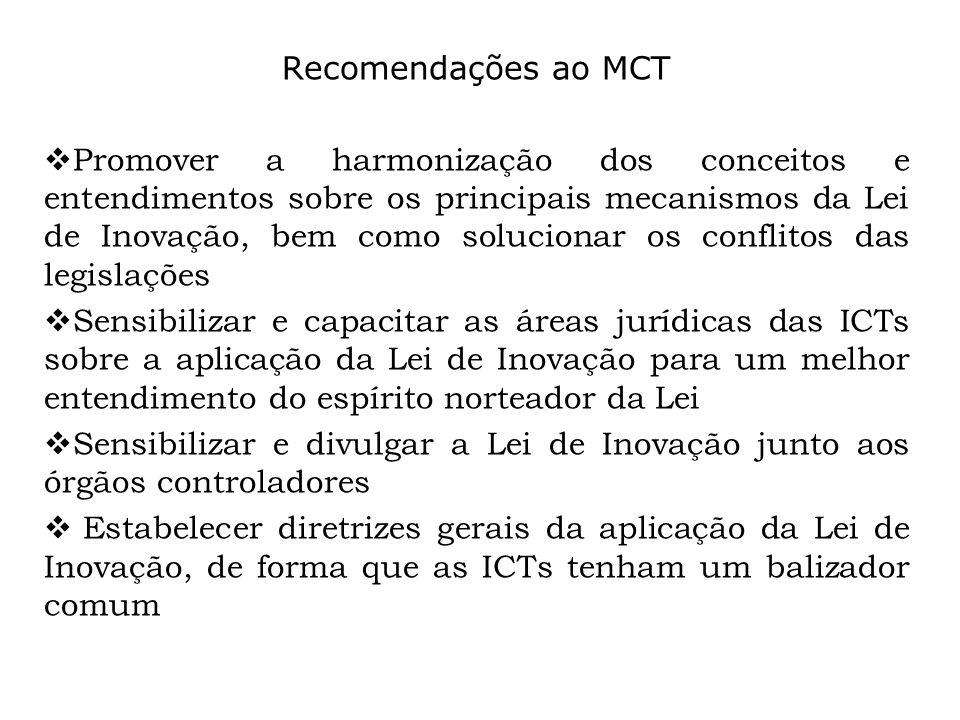 Recomendações ao MCT