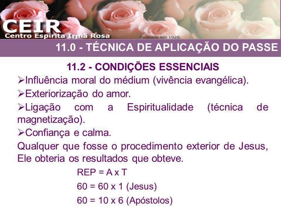 11.2 - CONDIÇÕES ESSENCIAIS