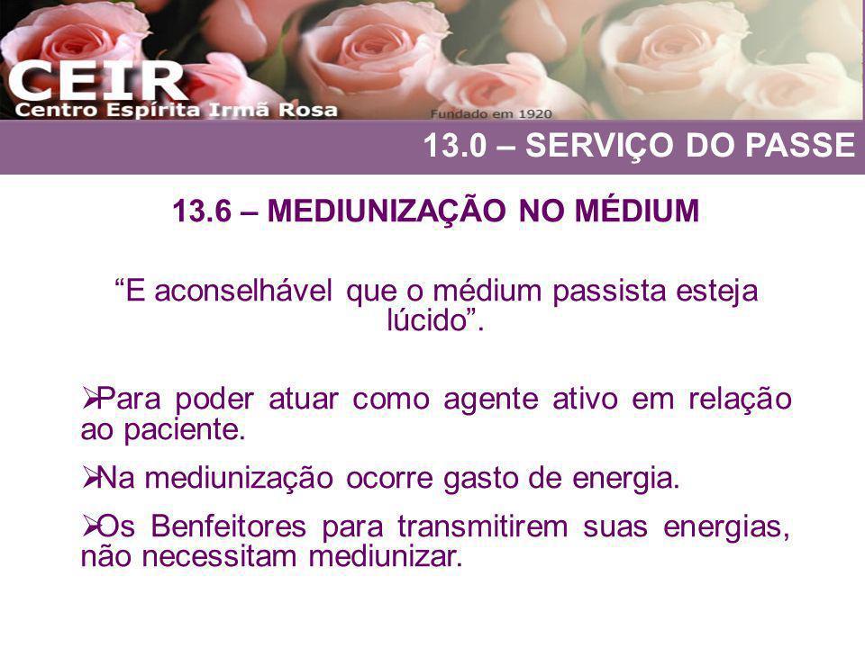 13.6 – MEDIUNIZAÇÃO NO MÉDIUM
