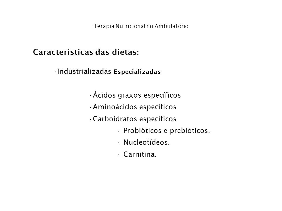 Terapia Nutricional no Ambulatório