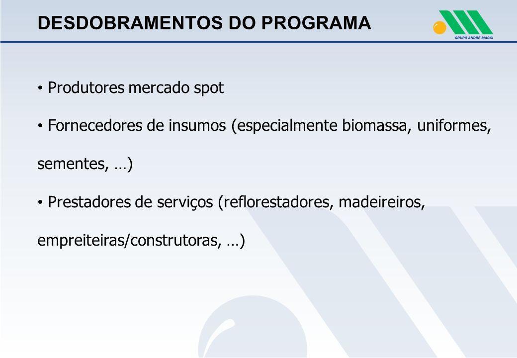 DESDOBRAMENTOS DO PROGRAMA