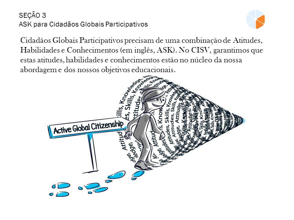 SEÇÃO 3 ASK para Cidadãos Globais Participativos. Cidadãos Globais Participativos precisam de uma combinação de Atitudes,