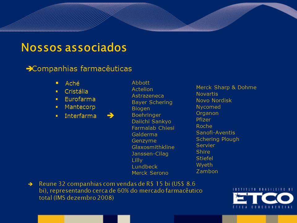 Nossos associados Companhias farmacêuticas Aché Cristália Eurofarma