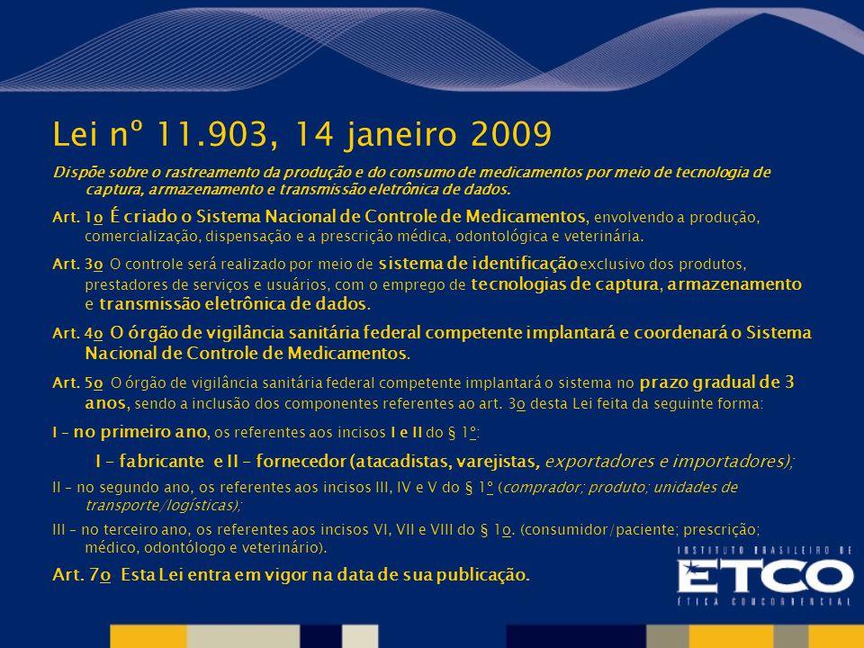 Lei nº 11.903, 14 janeiro 2009