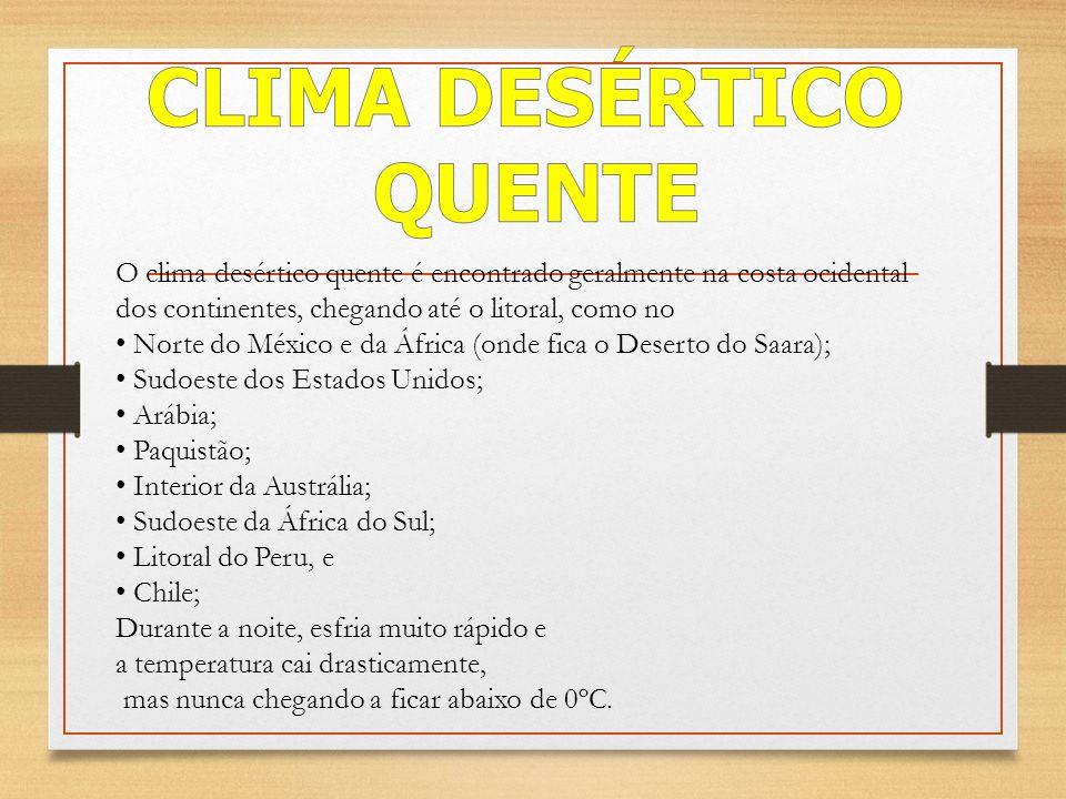 CLIMA DESÉRTICO QUENTE