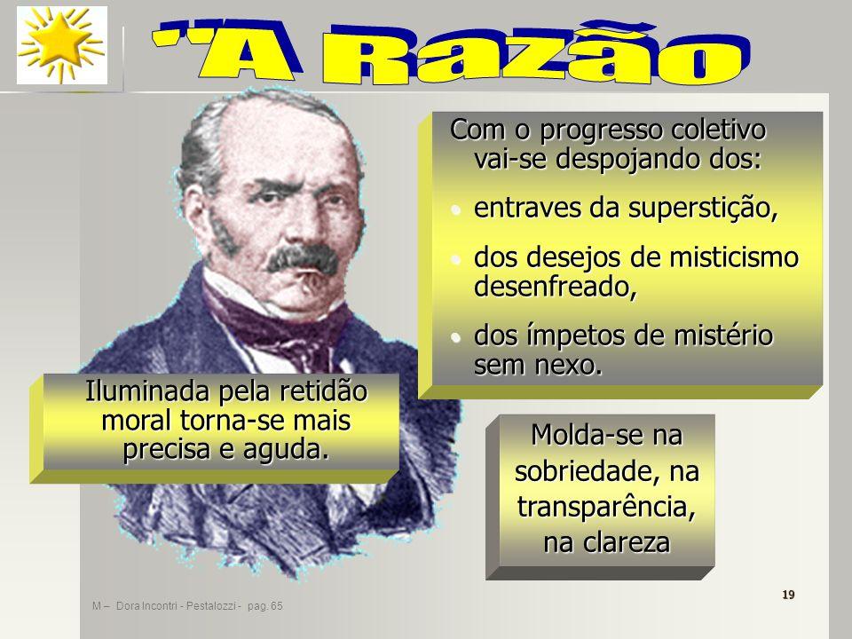 A R a z ã o Com o progresso coletivo vai-se despojando dos: