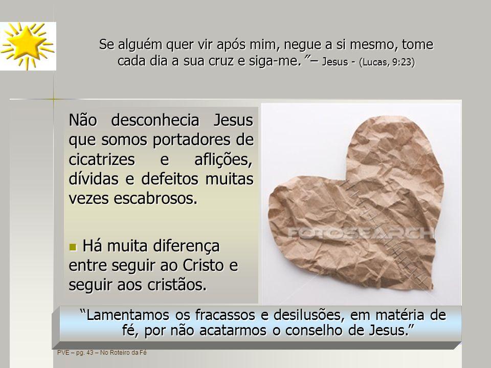 Há muita diferença entre seguir ao Cristo e seguir aos cristãos.